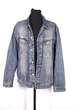 T19-11 Angelo Litrico Herren Jeans Jacke Denim Western Jacket Gr. XL blau
