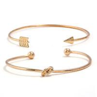 Women Multilayer Charm Crystal Alloy Cuff Bangle Wristband Bracelet Jewelry Gift