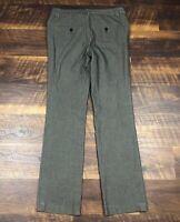 Express Design Studio EDITOR Brown Slim Boot size 4R Career Women's Dress Pants