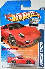 HOT WHEELS 2011 NIGHTBURNERZ PORSCHE 911 GT2 RED FACTORY SEALED W+