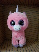 """TY beanie Baby Boo's Magic The Unicorn 6"""" Retired Pink Plush New"""
