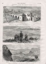 OLD 1875 PRINT SKETCHES THE CARLIST ARMY FROM THE WAR IN SPAIN  b41
