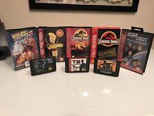 8 Game Sega Genesis Lot- Back to the Future, Terminator, Jurassic Park, Beavis
