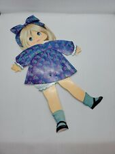 Paper Doll Articulated Girl Dress Arms Legs Move Hips Head Move Vintage 1970's