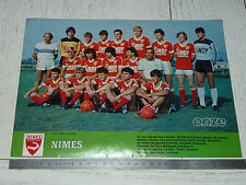 CLIPPING POSTER FOOTBALL 1983-1984 NIMES OLYMPIQUE CROCOS COSTIERES JEAN-BOUIN