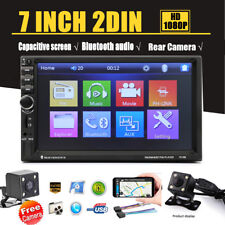"7"" Double 2 DIN Car Stereo Radio MP5 Player Mirror Link Bluetooth & Rear Camera"