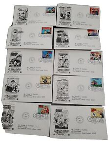 postal commemorative society us first day covers..10 comic covers..addressed