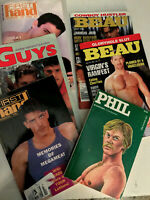 LOT OF (6) Vintage Gay Erotica Paperbacks - First Hand, Star, Beau - EX
