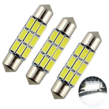 3 ampoules à LED blanc navettes feston 41 mm pour l'éclairage intérieur auto