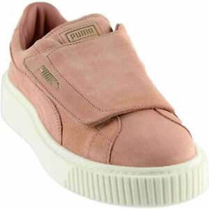 Puma Suede Platform Strap Slip On  Womens  Sneakers Shoes Casual