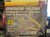 Generator-Y-Power-Cord-25-Ft by Prime  Free Shipping