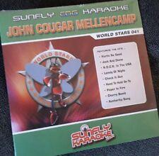 Karaoke cdg disc,SFWS041 Sunfly World Stars,John Mellencamp,see Descript,14 trks