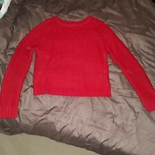 WOMENS BRAVE SOUL RED CREW NECK KNITTED JUMPER SIZE MEDIUM