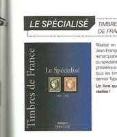 YVERT & TELLIER CATALOG FRANCE SPECIAL CLASSICS STAMPS