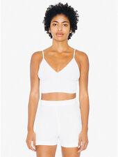 NWT American Apparel Sofia Ribbed Tank Cami Bralette Crop Top White XS,S,M