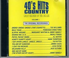 MUSIC CD 40's HITS COUNTRY Great Records of the Decade ORIGINAL Vol 1 FREE S/H