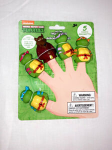 🐢Nickelodeon Teenage Mutant Ninja Turtles Finger Puppets Bath Time Fun NEW ✅