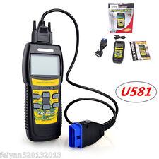 Car OBDII Scanner Fault Code Reader CAN U581 Engine Live-Scan Professional Tool