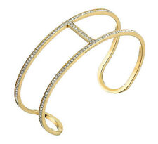 Michael Kors MKJ4433710 Maritime Gold-Tone Pave Crystal Open Cuff Bracelet $145