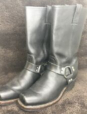FRYE Square Toe Harness 12R Pull On Calf High Boots Motorcycle Work Men Size 9.5