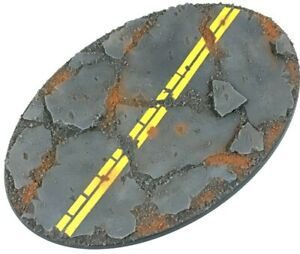 Industrial Road - Oval Resin Base 170 mm - 1 Painted/Unpainted Bases Warhammer