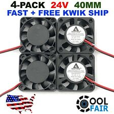 24V 40mm Cooling Case Fan 4010 40x40x10mm DC RepRap 3D Printer 2-Pin 4 Pcs
