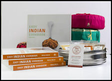Cookbook 'Easy Indian Cooking' Manju Malhi & Spice Tin, 10 Spices & Cover