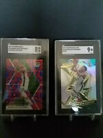 Giannis Antetokounmpo Lot of 2 Mosaic Blue Reactive Prizm, Revolution Astro SGC