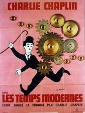 Affiche 120x160cm LES TEMPS MODERNES /MODERN TIMES 1936 Chaplin R NEUVE