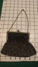 vintage Original --Art Nouveau Flapper little bead Coin Change Purse COOL