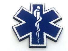 Star Of Life Medic Blue Cross Embroidered Airsoft Paintball Patch