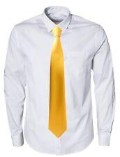 Matt Plain Clip On Clipper Tie - British made Standard and XL Extra Long Lengths