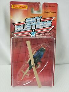 Matchbox Sky Busters Mission Chopper Military Helicopter MOC SB12 VINTAGE 1988