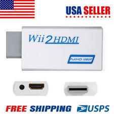 Wii to HDMI Wii2HDMI Full HD Portable 1080P Converter Adapter 3.5mm Audio Output