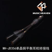 A PAIR Music Heaven MH-NZ127 3 PINS XLR Balanced Female To RCA Adaptor