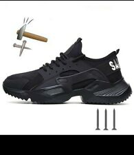 New Exhibition Men Safety Shoes Sneakers Ultra Light Breathable Steel Toe size11
