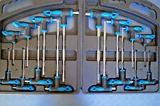 16 x Torx / Innensechskant Steckschlüssel T-Griff CrV Schraubendreher Profi