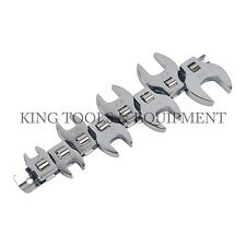 New KING 3/8 Inch Drive Crowfoot Wrench Set, 8PC SAE, Carbon Steel Chrome-Plated