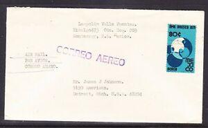 Mexico 1971 Air Letter Monterrey to Detroit No2