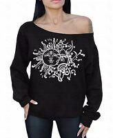 Sun Moon White Off The Shoulder Oversized Slouchy Sweater Sweatshirt