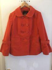 Jack BB Dakota Orange Double Breasted Coat, Size Large