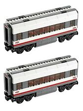 TWO (2) LEGO 60051 High-speed Passenger Train coach carriages
