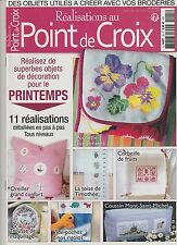 Réalisations au point de croix N°25 avril 2015 Printemps