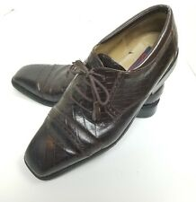 Giorgio Brutini Mens Leather Oxford Lace Up Shoes Sz 13M Brown Croc