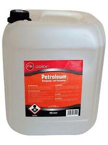 20 Liter Petroleum schwefelarm geruchsneutral  gereinigt Leuch/ Putz