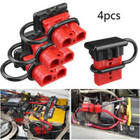 4pc 50A Car Battery Quick Connect Disconnect Power Wire Cable Connector Plug Red