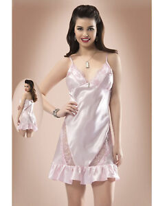 Women Sexy Silky Satin Lace Chemise  Babydoll Short Nightdress European Products