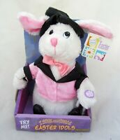 IDOLS Easter Bunny Peter Cottontail Animated Figure White Plush Toy Home Decor