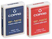 2 x COPAG PLAYING CARDS 100% Plastic POKER single deck
