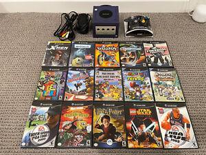 Gamecube Console and 15 game bundle lot Mario baseball, Super smash melee